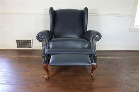 queen anne style recliner chair queen anne style wingback leather reclining chair ebth