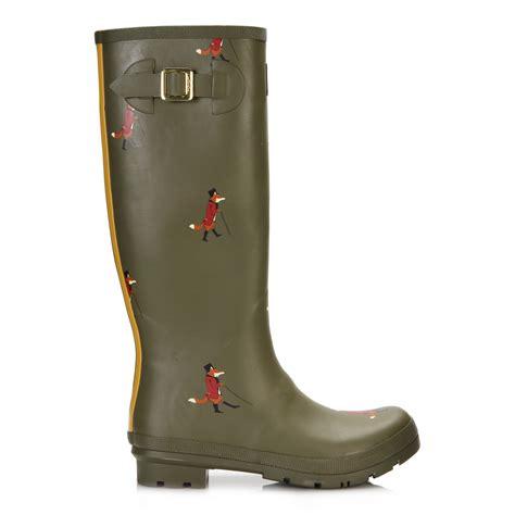 joules womens wellington boots blue green black wellies