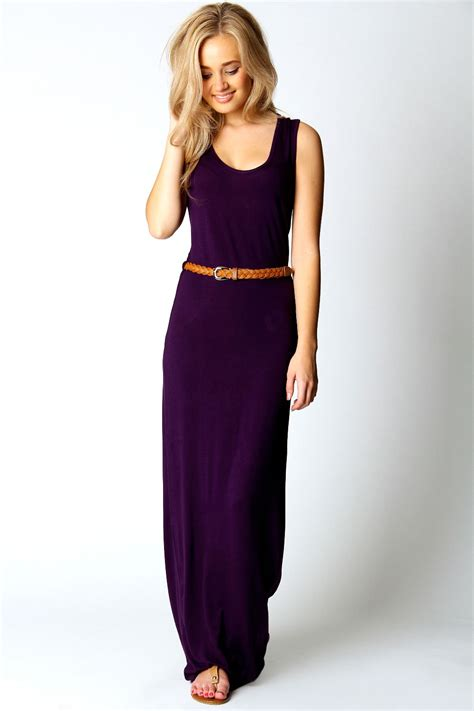 Lavia Drees Maxy racer back maxi dress plum plum shopping s fashion s fashion