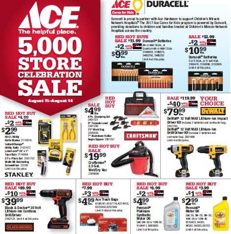 ace hardware boom sale 2017 sdc building center