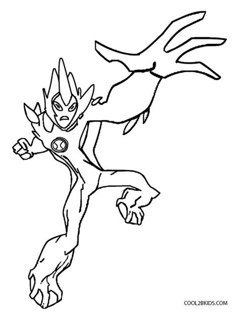 four arms cool colouring pages