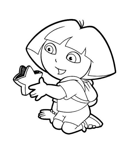Dora Star Coloring Pages | dora the explorer coloring pages coloringsuite com