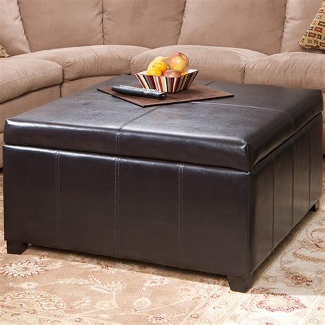 square storage ottoman coffee table coffee table superb square leather storage ottoman