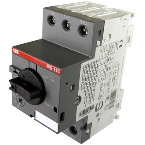 abb manual motor starter ms 116