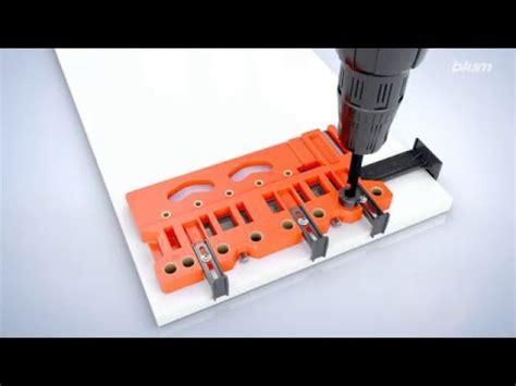 Blum Universal Drilling Template Legrabox Application Youtube Blum Boring Template