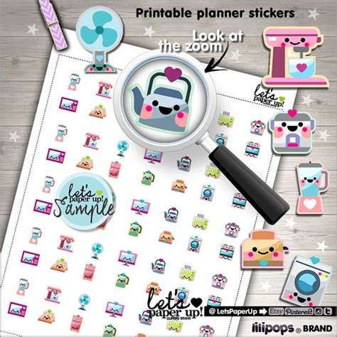 printable planner accessories appliance stickers printable planner stickers house