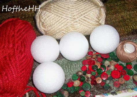 Handmade Balls - yarn handmade ornaments happenings of the