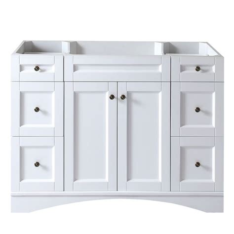 48 Inch Bathroom Vanity White Virtu Usa Elise 48 Inch White Single Sink Cabinet Only Bathroom Vanity By Virtu Usa Bathrooms