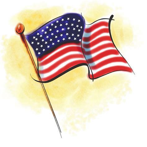 flag clipart u s a independence day free clip american flags