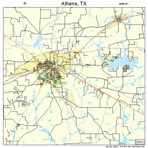 map of athens texas athens texas map 4804504