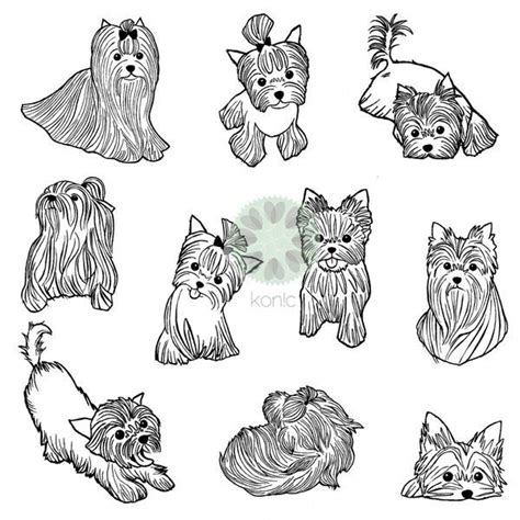 yorkshire terrier tattoo designs 75 best yorkie silhouette images on yorkie