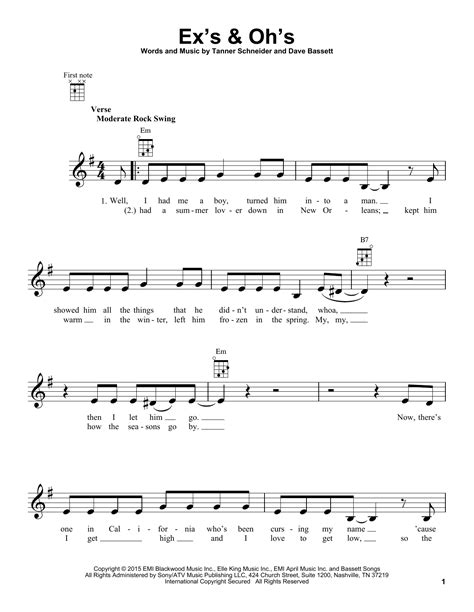ex s oh s ex s oh s sheet music direct