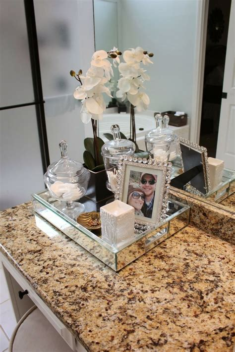 bathroom countertop decorating ideas decorating your bathroom with crystal pots becoration