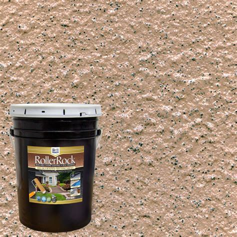 daich rollerrock 5 gal self priming ginger exterior concrete coating rrpl gin 189 the home depot