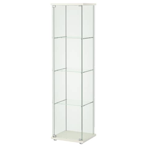 Glass Door Cabinet Ikea Detolf Glass Door Cabinet White 43x163 Cm Ikea