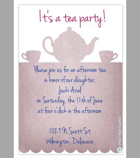 Party Invitation Template Download In Psd Pdf Teacup Invitations Template