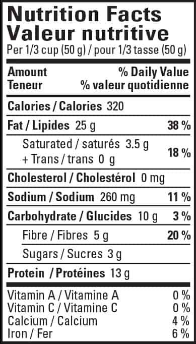 Planters Peanuts Nutrition Facts by Roasted Peanuts Delicately Seasoned Planters Canada