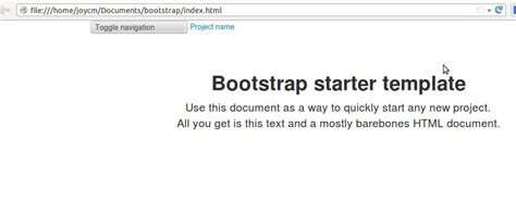 css bootstrap starter template navbar not working