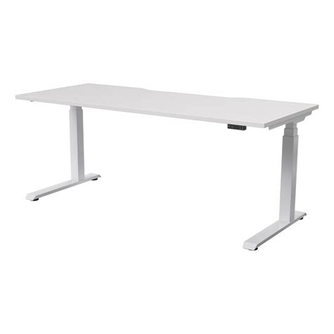 electric desks that adjust height strata electric height adjustable desk seated