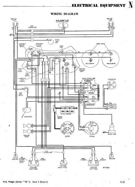 mg td wiring diagram 20 wiring diagram images wiring