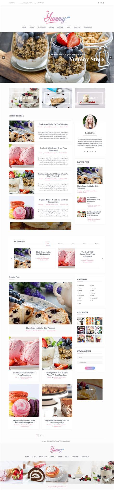 theme ref blog yummy is a modern wordpress theme for magazine news