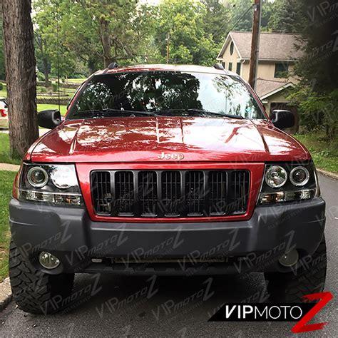 1999 jeep grand cherokee tail light 1999 2004 jeep grand cherokee wj black halo angel eye