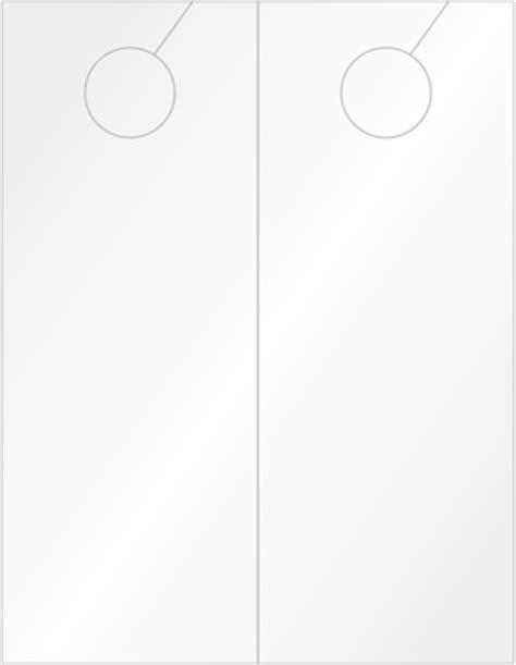 Laser Printable Blank Tags 4 25 X 11 Door Hanger Template