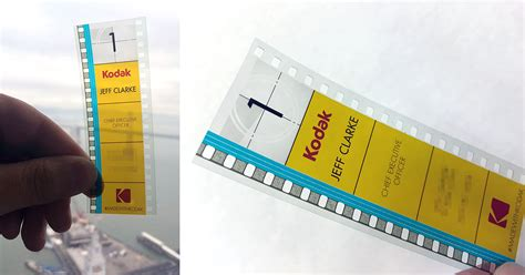 kodak cards templates kodak s ceo uses 35mm as his business card