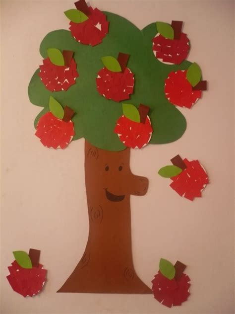 Paper Craft Tree - paper apple tree family crafts