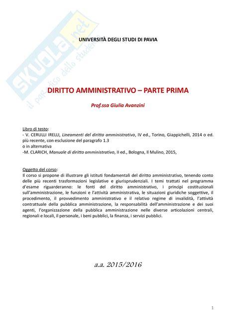 dispensa diritto amministrativo diritto amministrativo ii schemi
