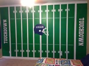 Football Field Wall Mural Football Field In A Little Boys Room Any Sports Fanatic