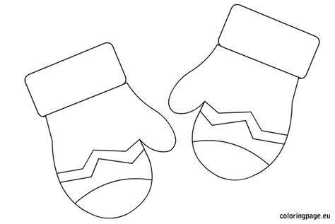 mitten coloring page winter mittens coloring