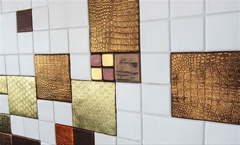 Interior Design Materials by Innovative Interior Design Materials Leather Tiles For
