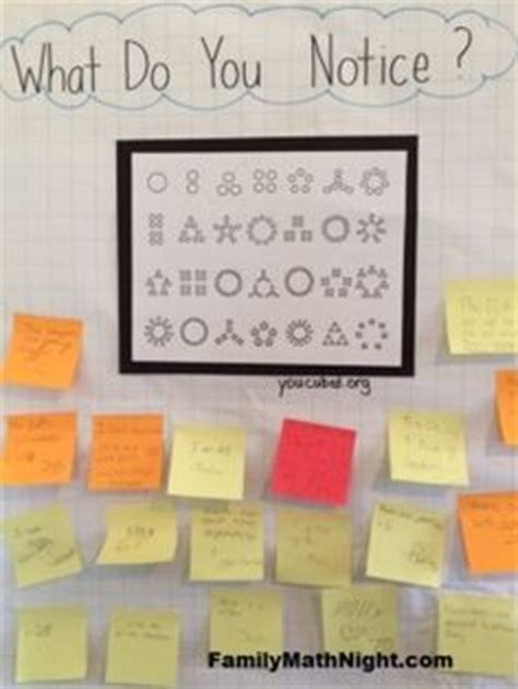 what pattern do you notice in your answers 1000 images about what do you notice a family math night