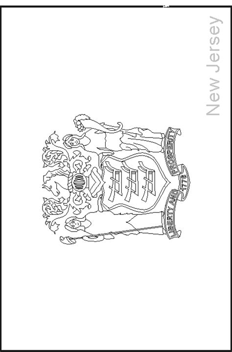 coloring page of new jersey state flower new jersey state flag coloring pages usa for kids