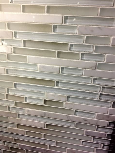 Glass Tile Kitchen Backsplash Kitchen Backsplash Tile The Neutral Green Gray Blue White Mix If Only I Could Find It