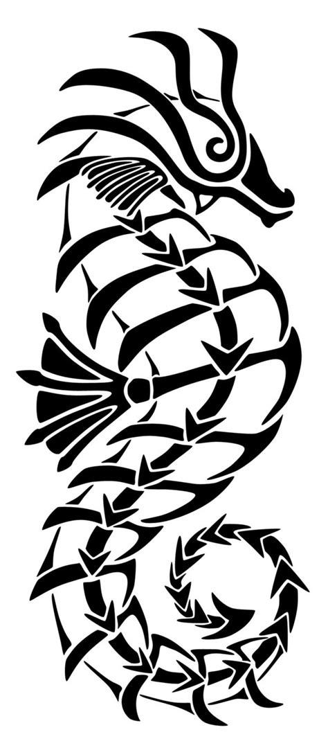 tribal seahorse tattoos tribal seahorse by nerds2x2ever on deviantart