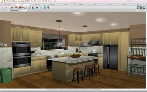 kitchen design with turbocad turbofloorplan 3d home landscape deluxe best apps and