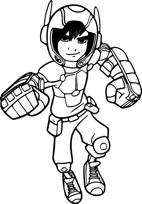 hiro coloring page coloring pages ideas reviews