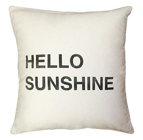 Hello Pillow by Hello Bold Script Linen Throw Pillow 24x24