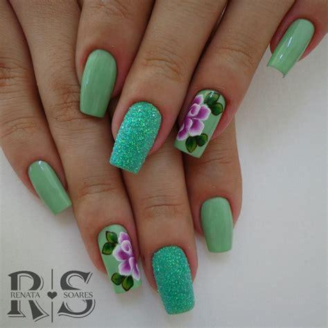 imagenes de uñas decoradas verde agua 33 fotos de unhas decoradas com esmalte verde