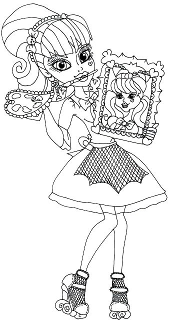 coloring pages for art class free printable monster high coloring pages draculaura art