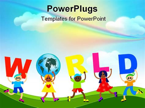 best powerpoint template a group of happy and diverse