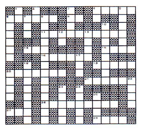 scan line pattern crossword cryptics