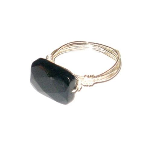 faceted onyx black faceted onyx ring