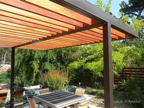 modern pergolas modern steel and wood pergola garden outdoor rooms