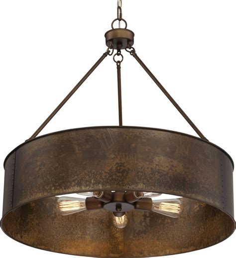Industrial Dining Room Table Kettle Weathered Brass Drum Pendant Light 30 Quot Wx28 Quot H