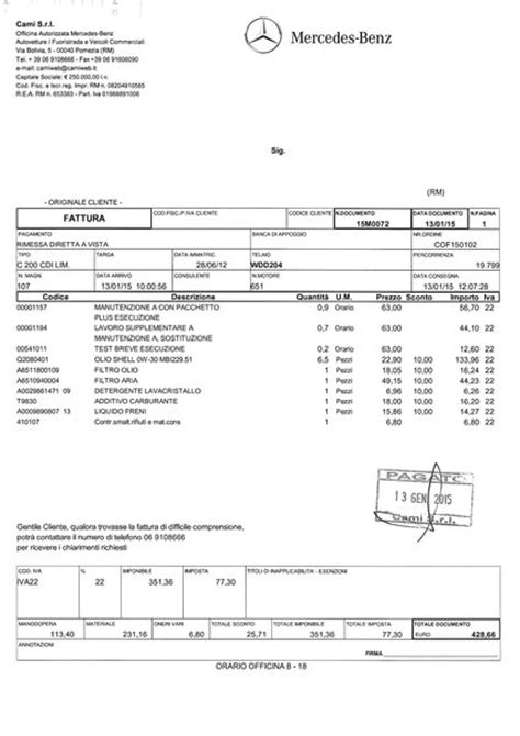 Lista Fatture Tagliandi Classe C - Pagina 9 - Mercedes