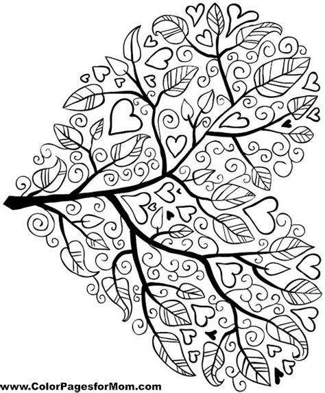 advanced coloring pages tree 5