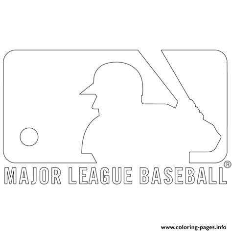 mlb coloring pages mlb logo mlb baseball sport coloring pages printable
